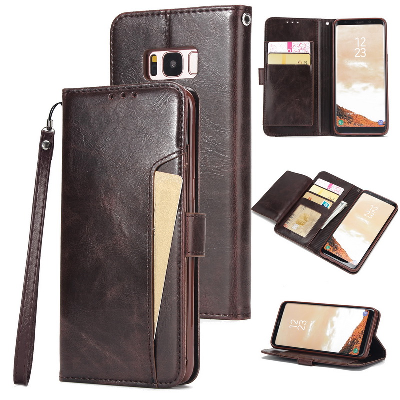 Flip Leather Wallet <font><b>Case</b></font> For Samsung S9 S10 Plus Note 10 Pro Multi <font><b>Card</b></font> Holder Back <font><b>Case</b></font> For iPhone XR X XS Max 7 8 6 6s Plus 5s image