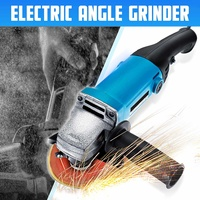 650W 220V 11000RPM Electric Angle Grinder 100mm Grinding Machine Metal + Plastic Cutting Tool Adjustable Anti explosion Shield|Grinders|   -