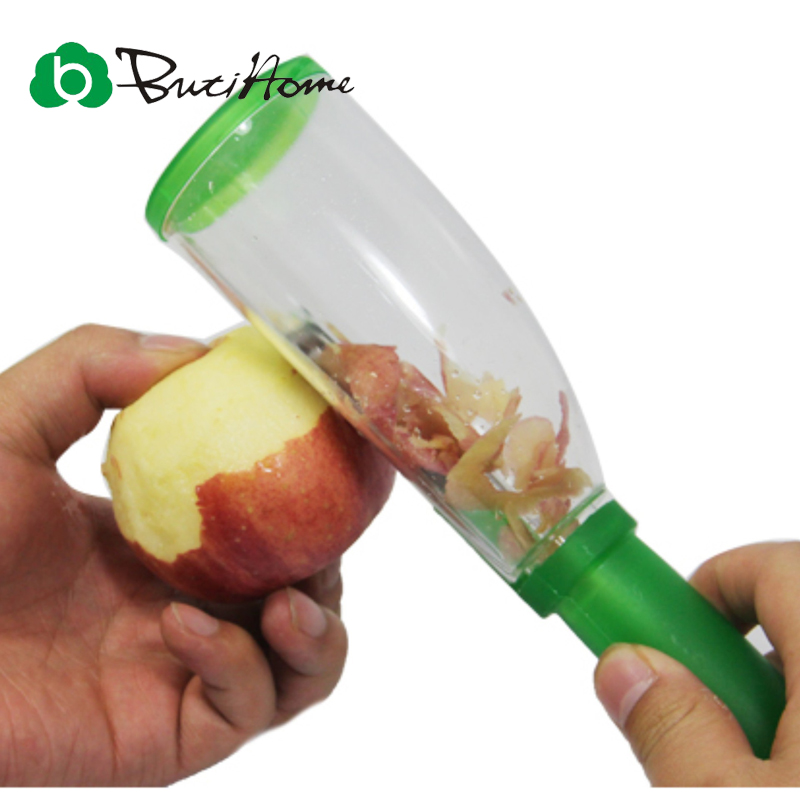 ButiHome Fruit Apple Peeler Cutter Vegetable Tools Gadgets Kitchen Supplies Red Green Color Plastic Kitchen Accessories