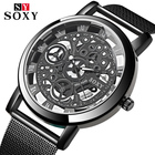 SOXY Skeleton Watch Men Wrist Watch Mens Watches Top Brand Luxury Men's Stainless Watch Male Clock relogio masculino 2018
