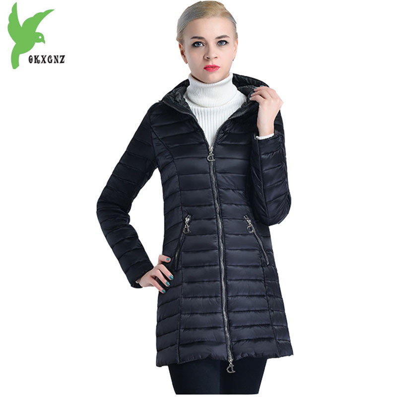 Europe New Female Winter Cotton Jacket Coats Plus size Women Parkas Medium length Cotton jacket Hooded Warm Outerwear OKXGNZ1184 winter women denim jacket flocking coats new fashion hooded cotton parkas plus size jackets female warm casual outerwear l384