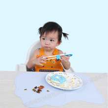 Cartoon Silicone plate Feeding Dishes Mat Placemat for Infant  Waterproof Kid Dinner Plate Tableware