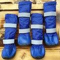 Уличные длинные сапоги для собак; 100% водонепроницаемая обувь для больших собак с резиновой подошвой; зимние сапоги; уплотненные резиновые с...