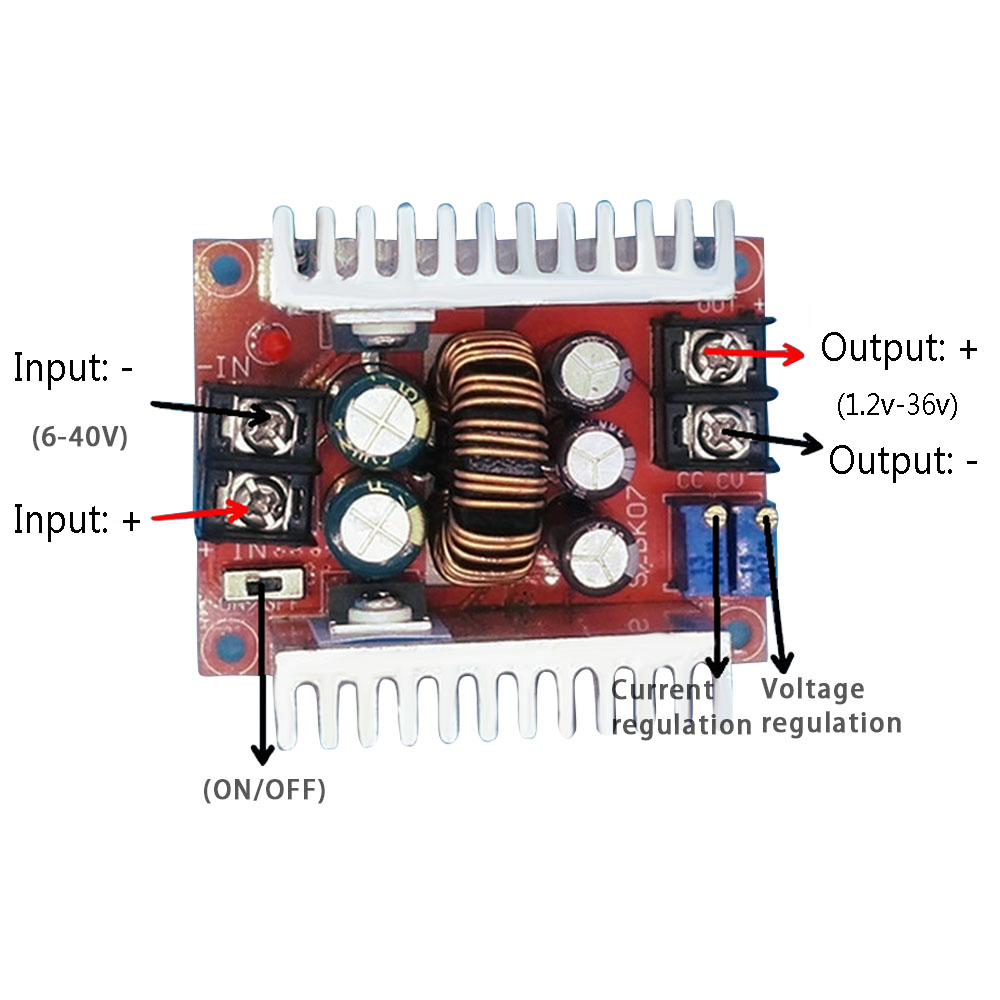 Aiyima Inverter Board 6 40v Dc To 12 36v Led Drive Circuit Series Protection Voltage Reduction Constant Current In Inverters Converters From