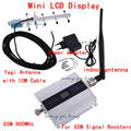 GSM усилитель сигнала сотовый телефон сигнал GSM усилитель сигнала повторитель с ЖК-Дисплеем 900 мГц с 13dbi Антенна yagi с кабель