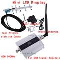 LCD GSM 900 MHz Signal Booster/Repetidor de Sinal GSM + Antena Yagi com Cabo de Telefone Celular Amplificador de Sinal de Telefone Celular Booster