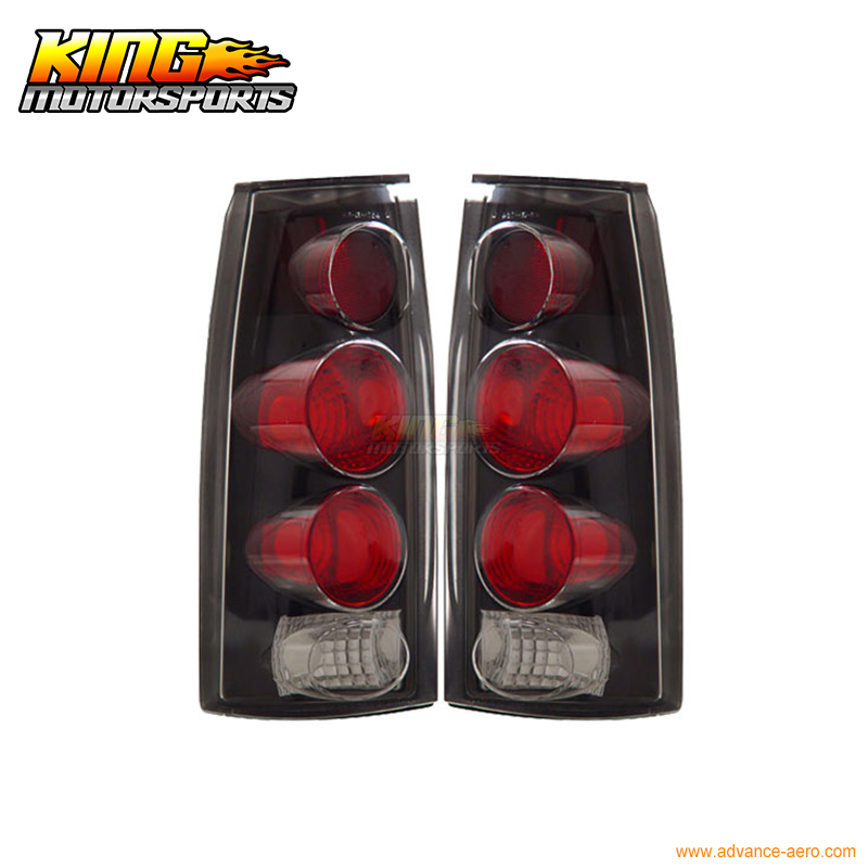 for 2005 2007 06 chrysler 300 300c led tail lights black lamps usa domestic free shipping For 1988-1998 Chevy Full Size Tail Lights 3D Style Black USA Domestic Free Shipping