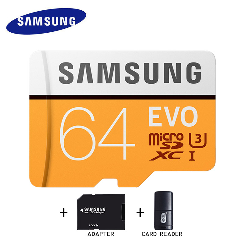 100% Original SAMSUNG Micro SD card 64 GB u3 Memory Card EVO Plus 64GB Class10 TF Card C10 95MB/S MICROSDXC UHS-1 samsung u3 4k memory card 128gb evo 100m s micro sd card class10 uhs 1 flash card memory cards microsd for tablet smartphone