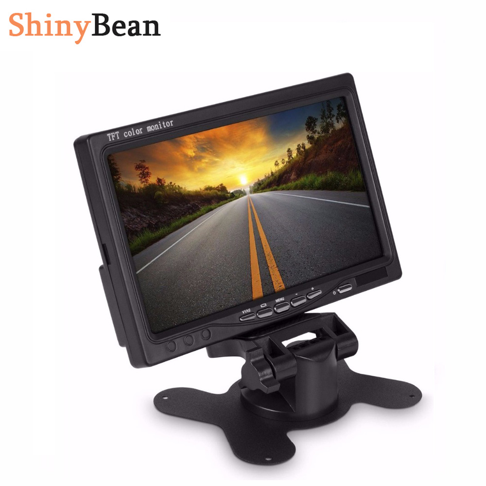 HD 7 Inch Car Monitor Multifunctional 800 480 Bright Color AUX In DC12V 24V Interface TFT