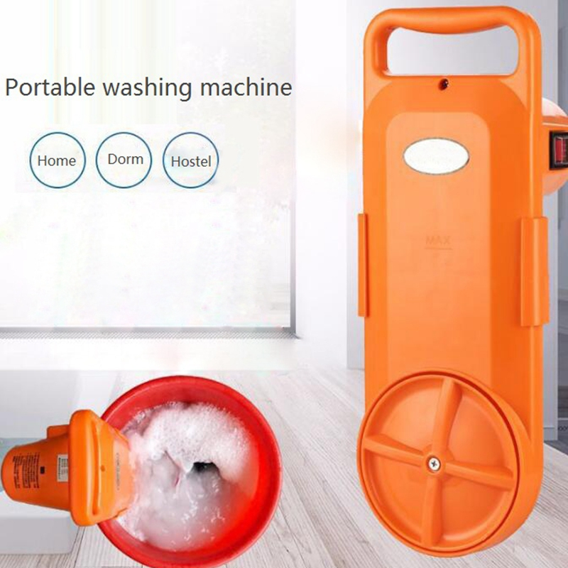 HIMOSKWA Portable Cleaing Device Semi automatic Electric Washing Machine 220V Home Clothes Cleaner For Dormitory Hotel Timed|Vegetable Washers| |  - title=