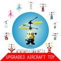 Дешевые Оригинальные Летающие Игрушки С Загорается Инфракрасный Индукционная Куклы для Детей Электронные Интерактивные Игрушки