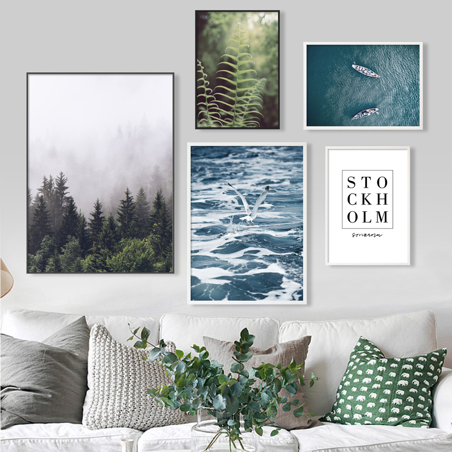 7-Space Nordic Wall Painting Print On Canvas Decorative Pictures Landscape Poster Art For Living Room