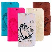 Love the heart Luxury fashion Flip Leather mobile phone shell For iPhone 7 5 5S SE 6 6s 7 plus design magnetic phone Case 6plus