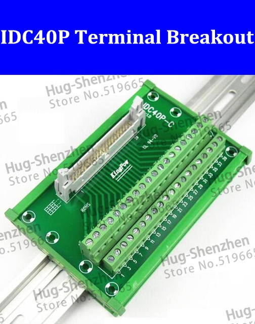 idc40p idc 40 pin male connector to 40p terminal block breakout rh aliexpress com