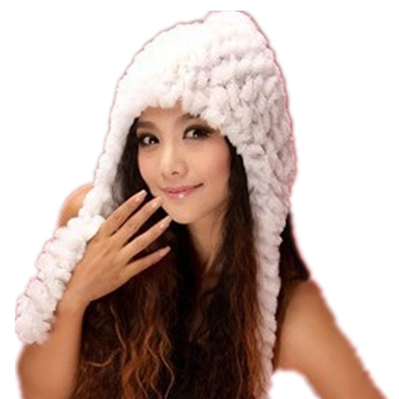 wholesale fur hat and scarf natural rex rabbit fur gray/white/red/brown autumn winter warm cap for women fashion  H648 skullies 2017 new arrival hedging hat female autumn and winter days wool cap influx of men and women scarf scarf hat 1866729