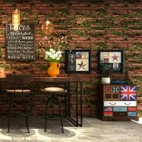 Personality Grass Brick Wallpaper 3d Vintage Stone Retro Wall Paper Barbershop Salon Clothing Store Background Papel De Parede