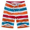 Hot Sale 2017 Shorts para homens Verão Listrado Casuais Moda Homens Soltos Calções de Lazer