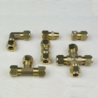 Free Shipping 50pcs Lot 9 52mm Water Connection Pipe Pipe Joint For Mist Cooling System Brass