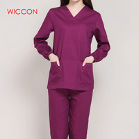 Long Sleeves Uniformes Hospital Women Medical Clothing Nursing Scrubs Clothes Set Dental Clinic Nurse Surgical Suit Pants Tops