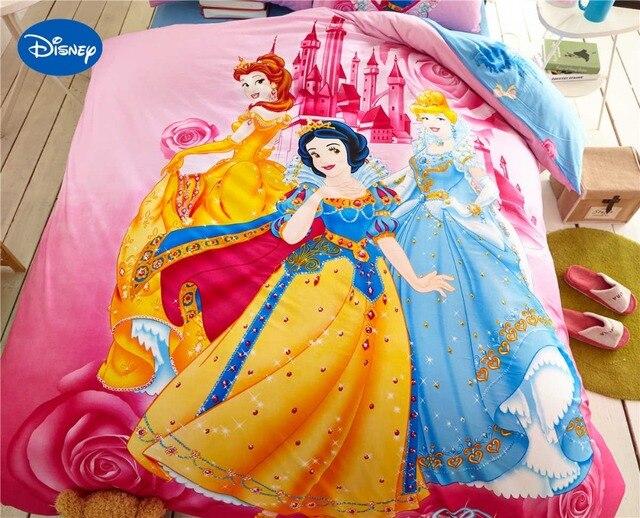 ea0e021472 Princesa Jogo De cama de Impressão da menina para a Decoração Da Casa  Tecido de Algodão
