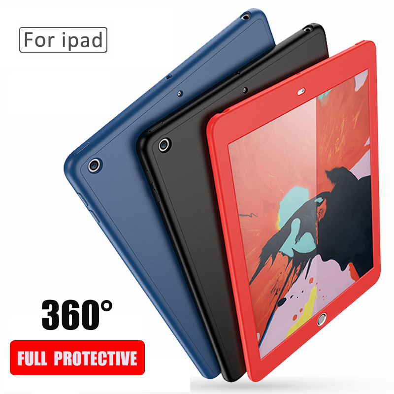 Tempered Glass For Apple iPad 9.7 2017 2018 5th 6th A1823 A1822 A1893 A1954 Case 360 Degree Front Back Full Cover Silicone CaseTempered Glass For Apple iPad 9.7 2017 2018 5th 6th A1823 A1822 A1893 A1954 Case 360 Degree Front Back Full Cover Silicone Case