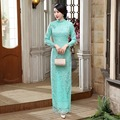 New 2016 fashion women Dress long Cheongsams Qipao Plus Size sexy Lace Maxi Dress Chinese Traditional Dress