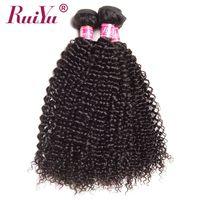 RUIYU Pelo Brasileño Afro Rizado Armadura Del Pelo rizado Del Pelo Humano paquetes No Remy Extensiones de Cabello Color Natural 10 ''-28'' 1 UNID sólo