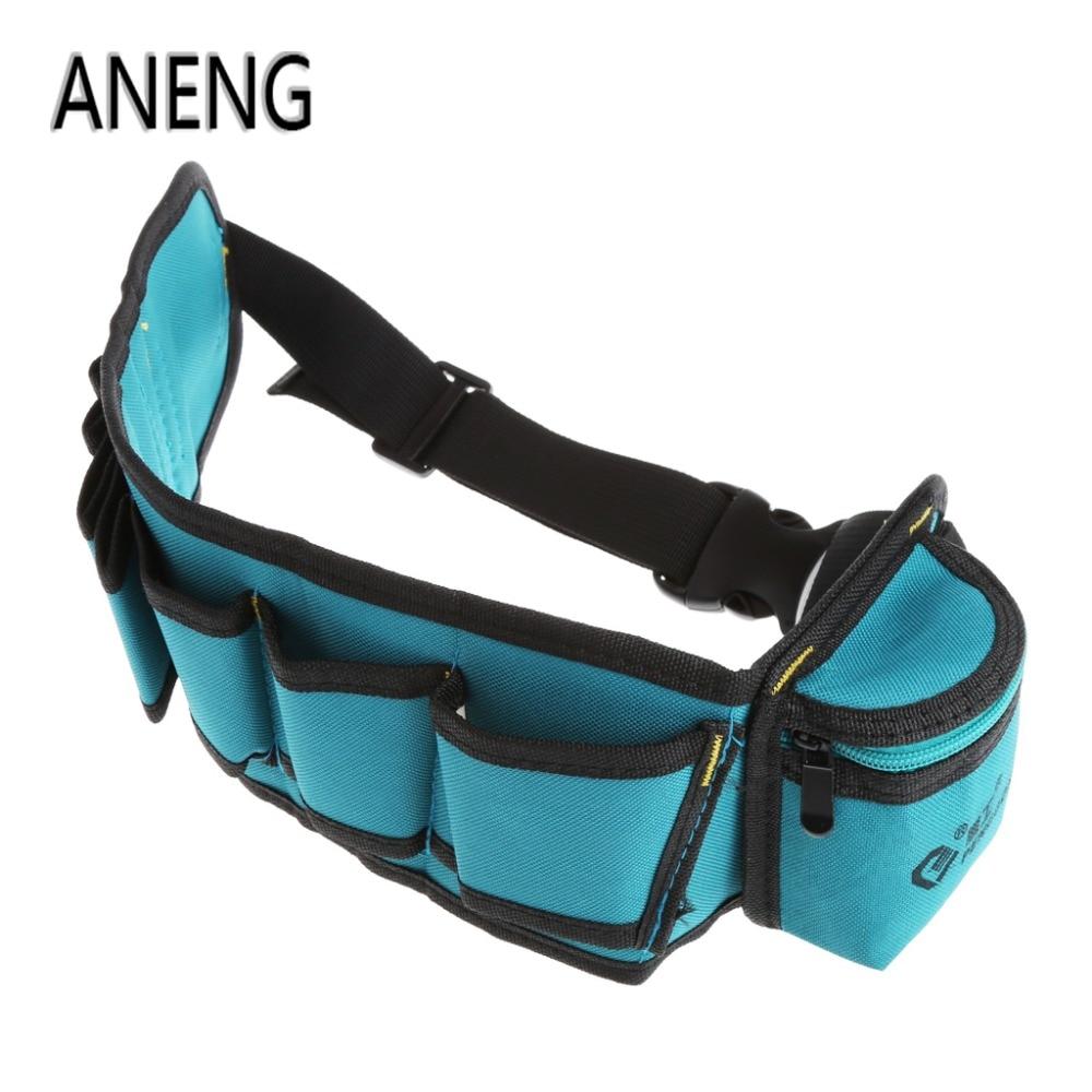 ANENG Multi-Pockets Waist Utility Belt Organizer Bag Tool Slot Screwdriver Carry Case