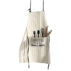 Oryginalna bawełna + bawełna bawełna lniana fartuch restauracja styl skandynawski strona główna akcesoria kuchenne Bib urządzenia kuchenne fartuchy dla kucharzy|Fartuchy|Dom i ogród -