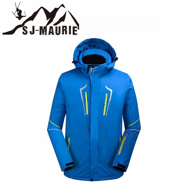 Veste de ski de Snowboard hommes hiver imperméable solide combinaison de ski en plein air camping épais manteau