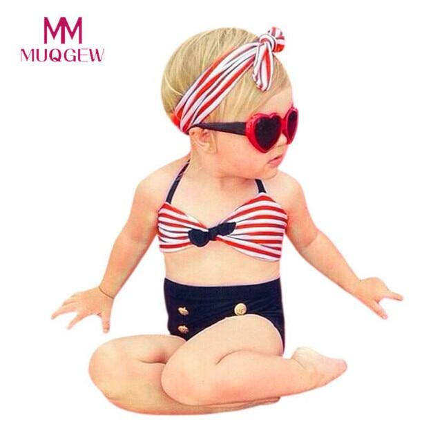 9fa728a3cc3d3 3Pcs Infant Kids Baby Girls Swimwear Straps Swimsuit Bathing Bikini Set  Outfits 2018 New Summer Swimwear Girl For 6-12 Months