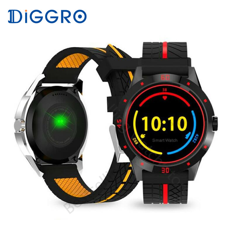 Diggro DI02 Smart Watch Heart Rate Monitor Bluetooth 4.0 Pedometer Sleep Monitor Reminder Smartwatch For Android & IOS pk K88H bluetooth sports smart watch with heart rate monitor smartwatch for android ios pk kw88 k88h