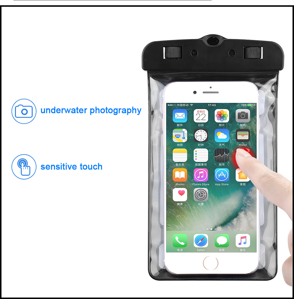 100% Waterproof Case For iPhone 6 7 6s Plus 5S SE Case (8)