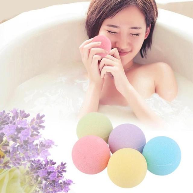 Малый Размеры Home Hotel Ванная комната Для ванной мяч бомба ароматерапия Тип Средства ухода за кожей Очиститель ручной работы Для ванной соль подарок 40 г 10 г случайный цвет