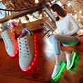 2016 nova moda as mulheres sapatos luminosos de alta qualidade USB LED de carregamento de flash colorido amantes de sapatos de lazer up