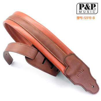 Guitar straps High-grade leather electric guitar straps Personality guitar straps Musical instrument guitar accessories straps фото