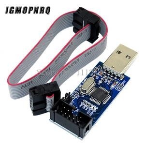 Image 1 - 1pcs USBASP USBISP AVR 프로그래머 USB ISP USB ASP ATMEGA8 ATMEGA128 지원 Win7 64K