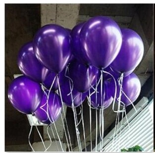 heap 50 / 100pcs 10 '' 1.2g Viola Round Shape Latex Pearl Balloon Party Decorare San Valentino Compleanno Matrimonio Decoratio