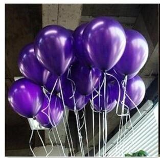 halom 50 / 100db 10 '' 1.2g lila kerek alakzat latex gyöngy ballon party díszíteni Valentin-nap születésnapi esküvői dekoráció