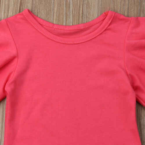 2019 Peuter Kid Baby Meisje T-shirt Solid Tops Rok Set Zomer Outfits