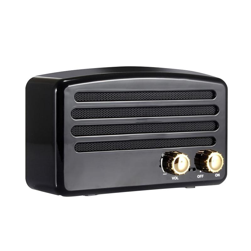 T5 Retro Nostalgic Mini Wireless Bluetooth Speaker 3D Stereo Mega Bass Subwoofer Mobile Phone Audio Radio Tf Card Usb Aux
