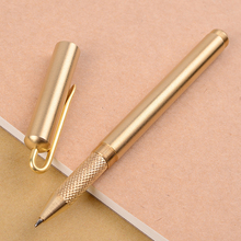 Vintage Brass Gel Pen 0.5mm personality signing pen