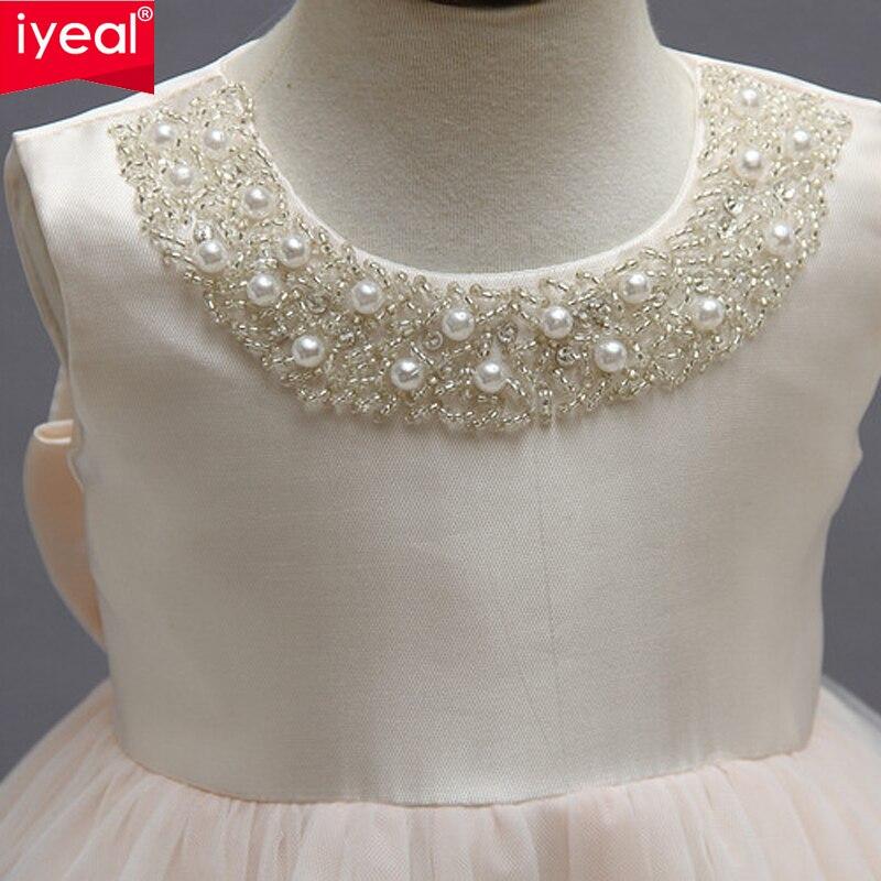 IYEAL Платье для девочек с цветочным узором для свадьбы и вечерние для принцессы платья для маленьких девочек костюм для маленьких детей Одеж...