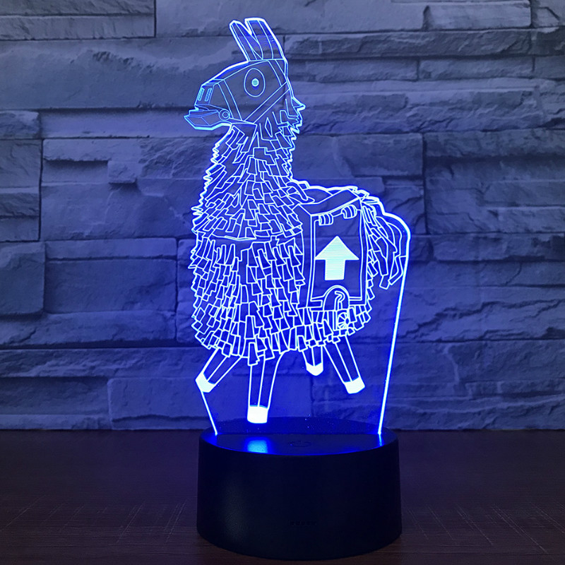SHINEHENG 3D Lamp Poke Crystal RGB Changeable Mood Battle Royalen Scar Gun Luminous Toys with 7 Color Lights