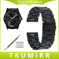 22mm Stainless Steel Watchband for LG G Watch W100 / R W110 / Urbane W150 Replacement Strap Wrist Belt Bracelet + Link Remover