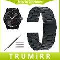 22mm pulseira de aço inoxidável para lg g watch w100/r W110/Urbano W150 Substituição Alça de Pulso Pulseira Cinto + Ligação removedor