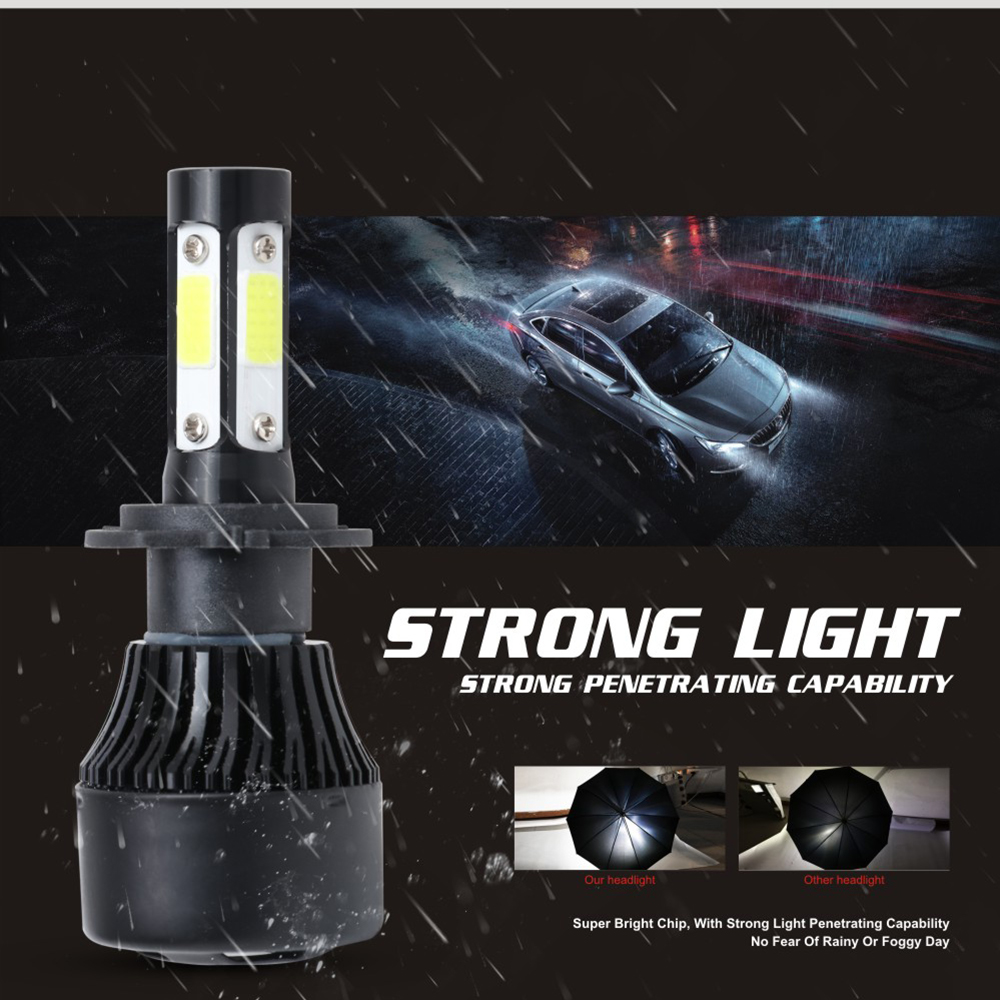 Image 3 - 4 Sides Luces Led H4 H7 H11 LED Headlight Bulb para Auto Car Lights HB4 H13 9004 9005 9006 9007 Lamp 100W 12000Lm 6500K 12V-in Car Headlight Bulbs(LED) from Automobiles & Motorcycles