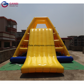Aqua equipment inflatable water climbing slide,6*4.5*3.6m inflatable climb with slide for kids professional 4 3 3m water climbing iceberg cheap inflatable water iceberg for water playing