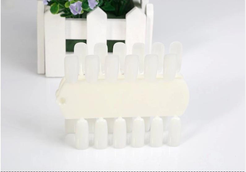 2Pcs/Set 24Color Removable display board False nails Tips Display Nail Art Acrylic Practice Board DIY Nail Tool Shelf Z40