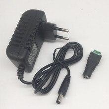Dc12v adaptador AC100-240V transformadores de iluminação para fora colocar dc12v 2a fonte de alimentação para led strip + conector